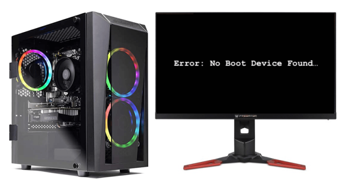 Gaming Computer No Boot Device Found Error