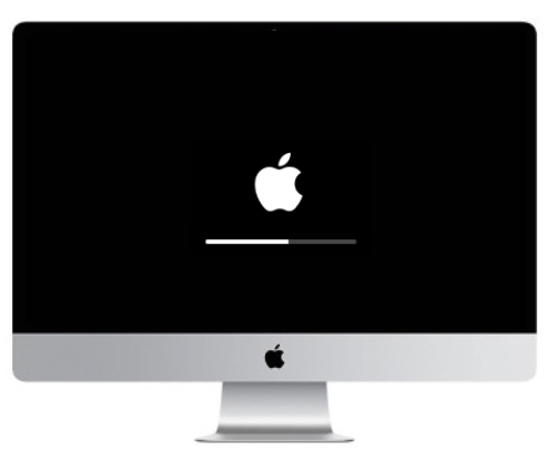 iMac Apple logo loading bar stuck repair dallas texas